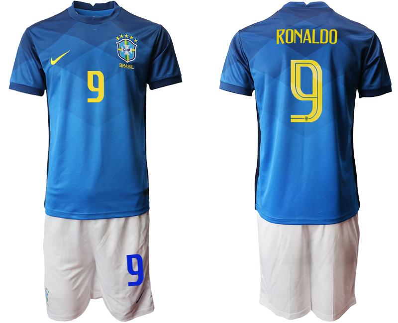 2020-21 Brazil 9 RONALDO Away Soccer Jersey