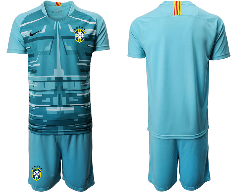 2020-21 Brazil Blue Goalkeeper Soccer Jersey