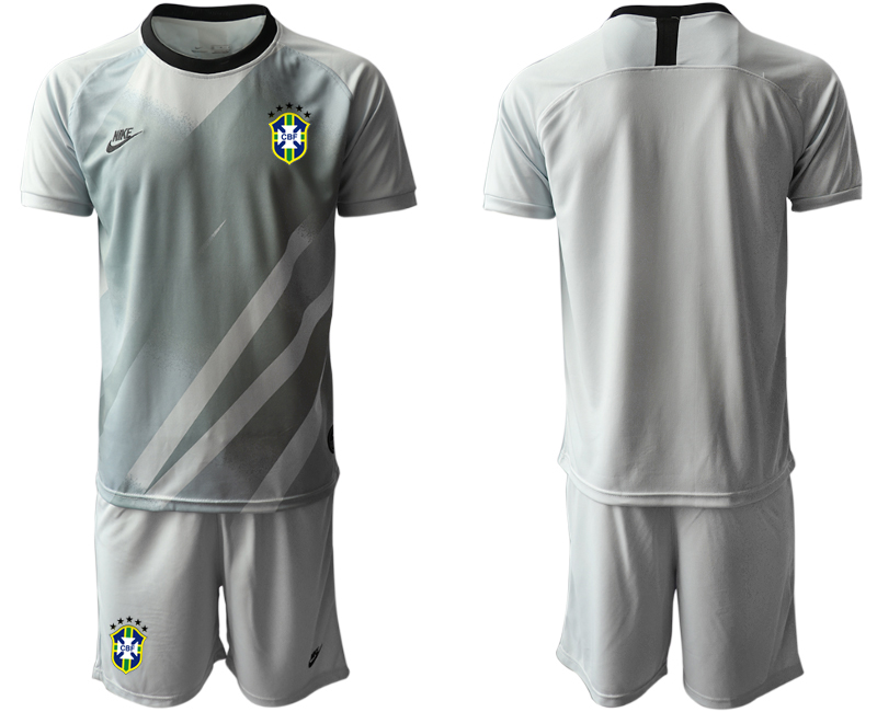 2020-21 Brazil Gray Goalkeeper Soccer Jersey