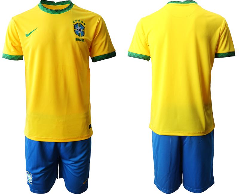 2020-21 Brazil Home Soccer Jersey