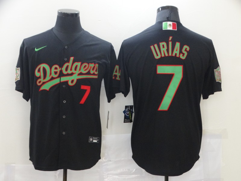 Dodgers 7 Julio Urias Black World Series Nike Cool Base Jersey