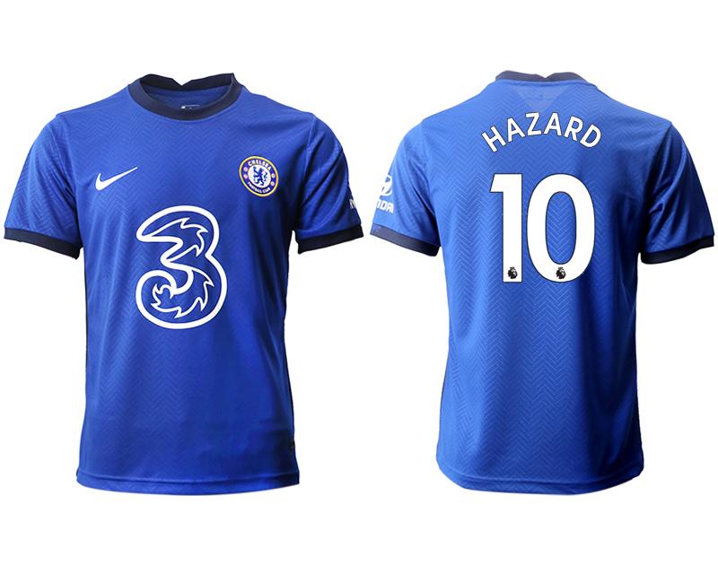 2020-21 Chelsea 10 HAZARD Home Thailand Soccer Jersey