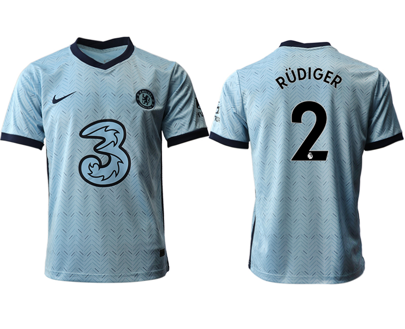2020-21 Chelsea 2 RUDIGER Away Thailand Soccer Jersey