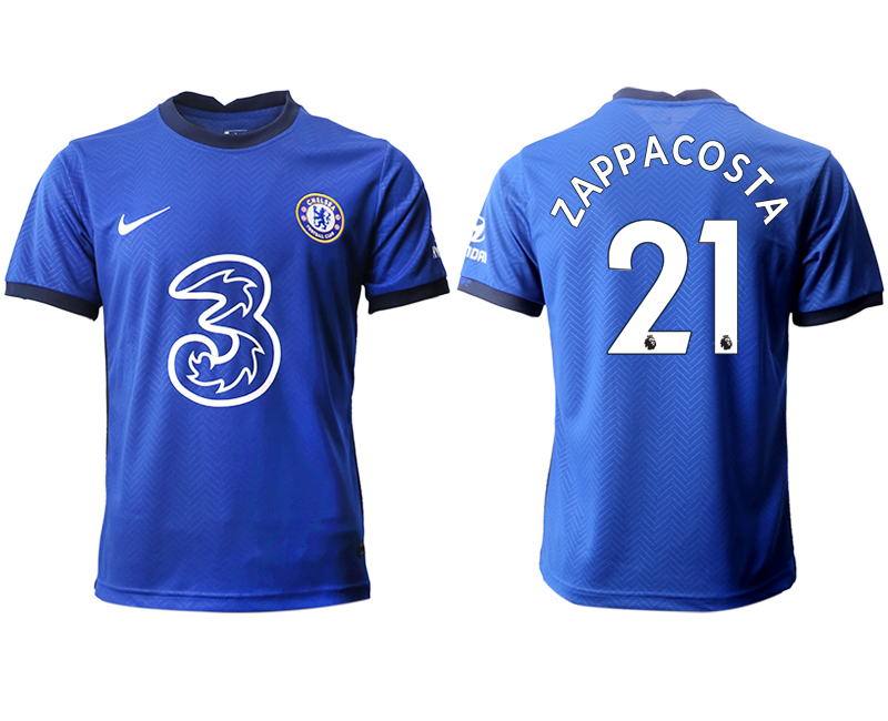 2020-21 Chelsea 21 ZAPPACOSTA Home Thailand Soccer Jersey