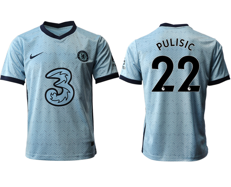 2020-21 Chelsea 22 PULISIC Away Thailand Soccer Jersey