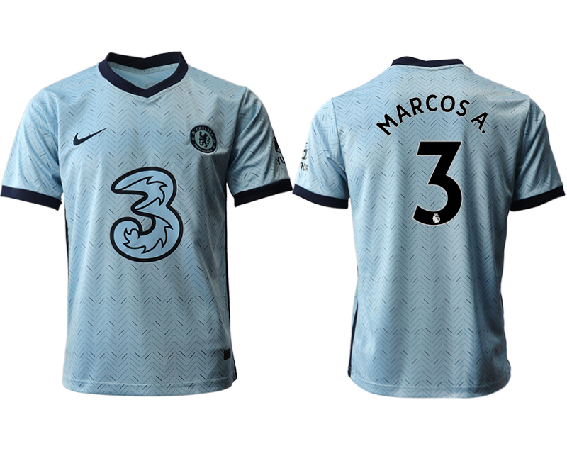 2020-21 Chelsea 3 MARCOS A. Away Thailand Soccer Jersey