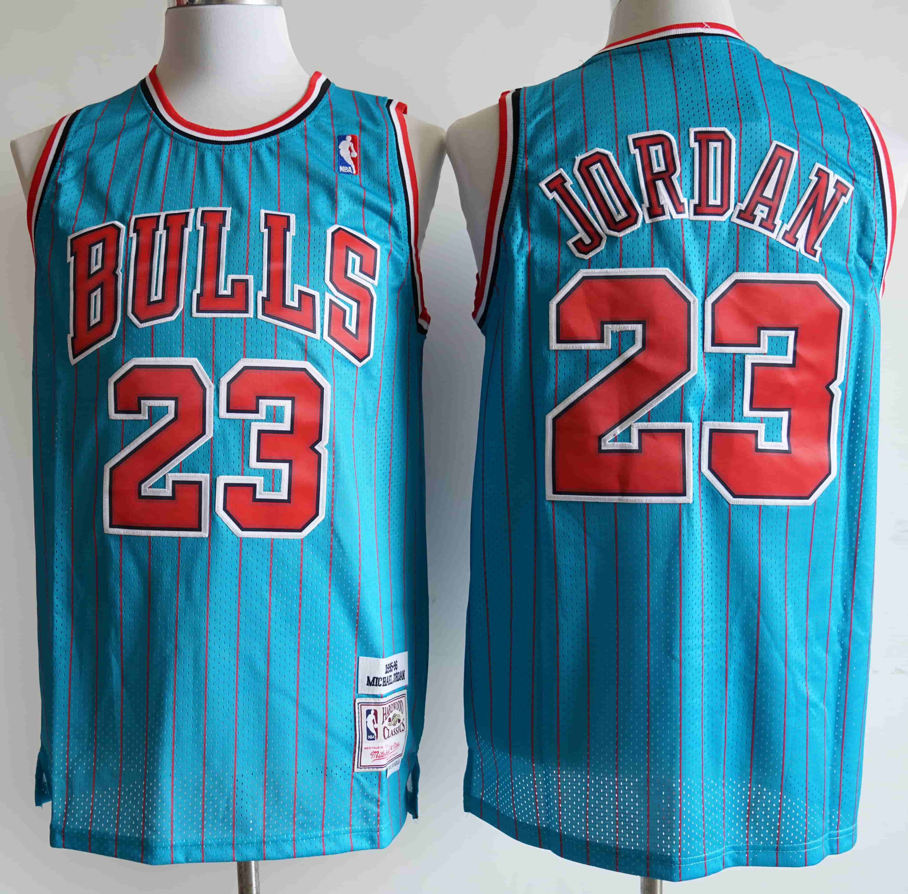Bulls 23 Michael Jordan Blue 1995-96 Hardwood Classics Swingman Jersey