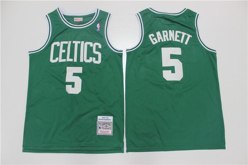 Celtics 5 Kevin Garnett Green 2007-08 Hardwood Classics Swingman Jersey