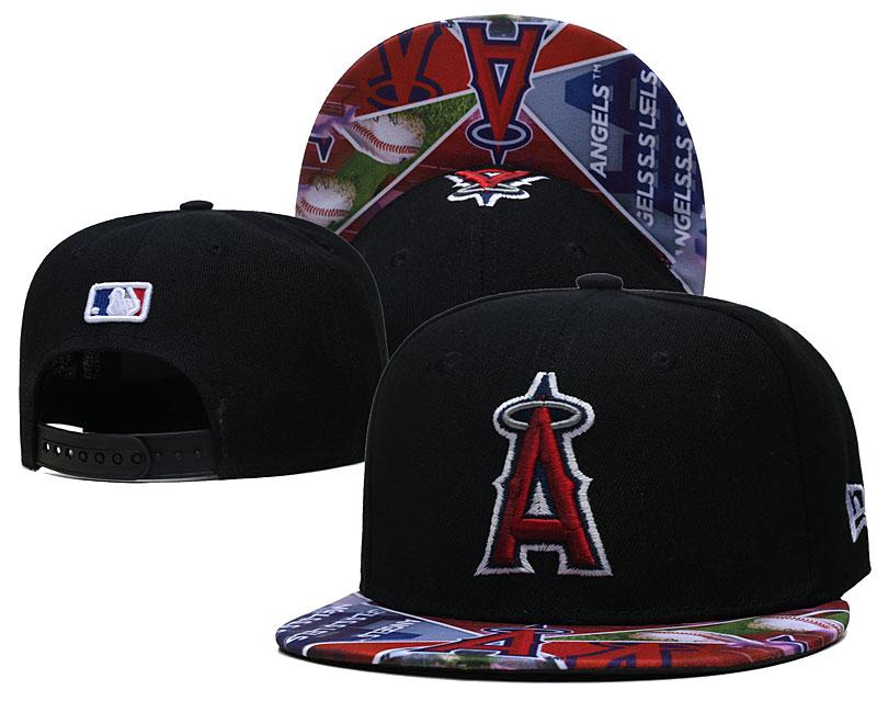 Angels Team Logos Black Adjustable Hat LH