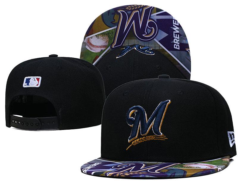 Marlins Team Logos Black Adjustable Hat LH