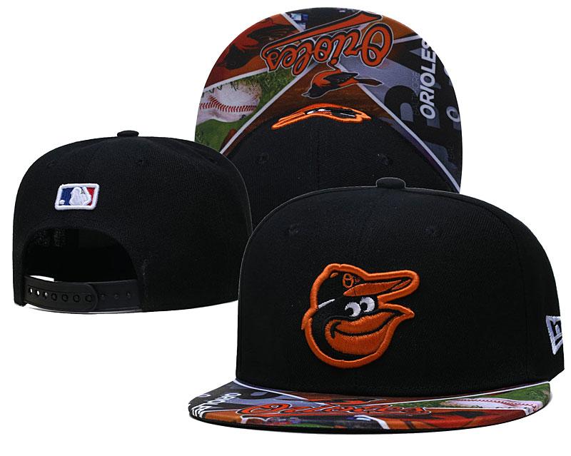 Orioles Team Logos Black Adjustable Hat LH