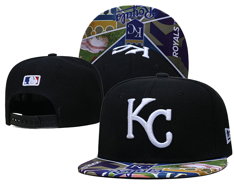 Royals Team Logos Black Adjustable Hat LH