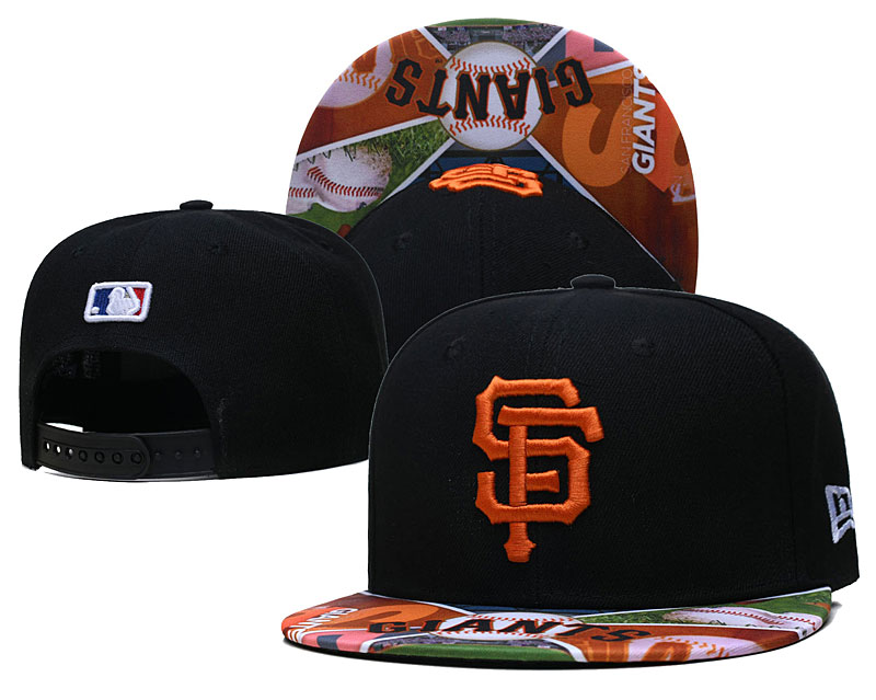 San Francisco Giants Team Logos Black Adjustable Hat LH