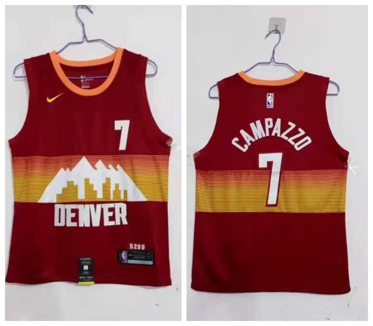 Nuggets 7 Facundo Campazzo Red 2020 21 City Edition Nike Swingman Jersey