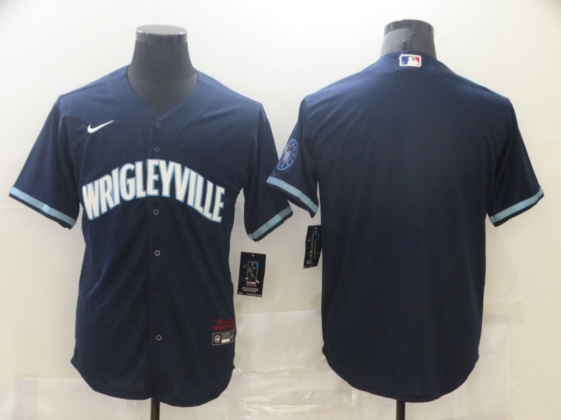 Cubs Blank Navy 2021 City Connect Cool Base Jersey