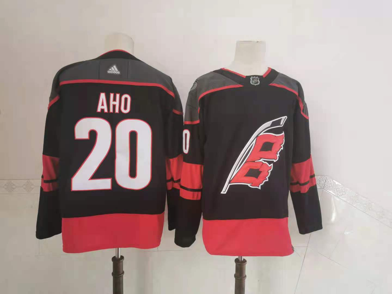 Hurricanes 20 Sebastian Aho Black 2020-21 Reverse Retro Adidas Jersey