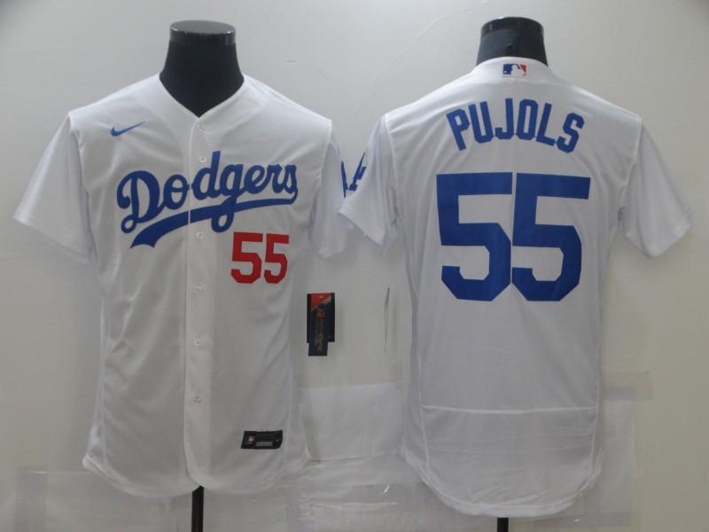 Dodgers 55 Albert Pujols Black 2020 Nike Flexbase Jersey