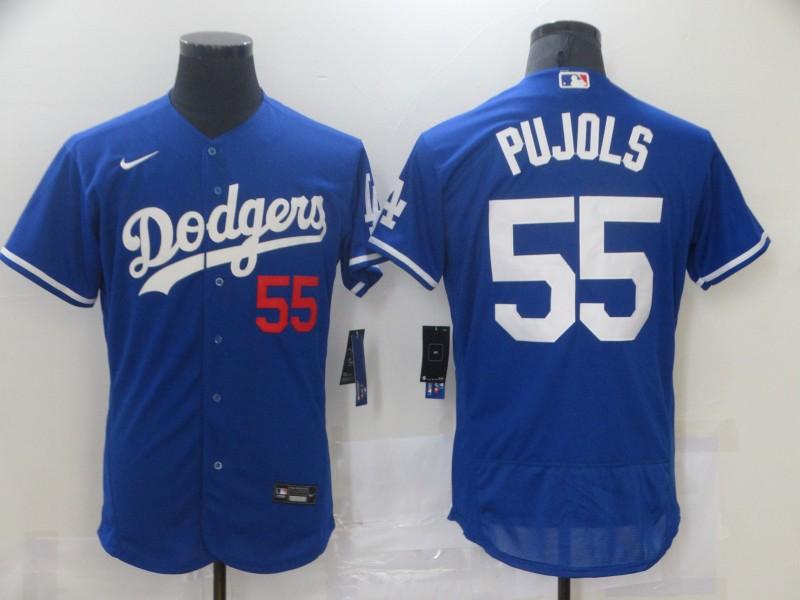 Dodgers 55 Albert Pujols Royal 2020 Nike Flexbase Jersey