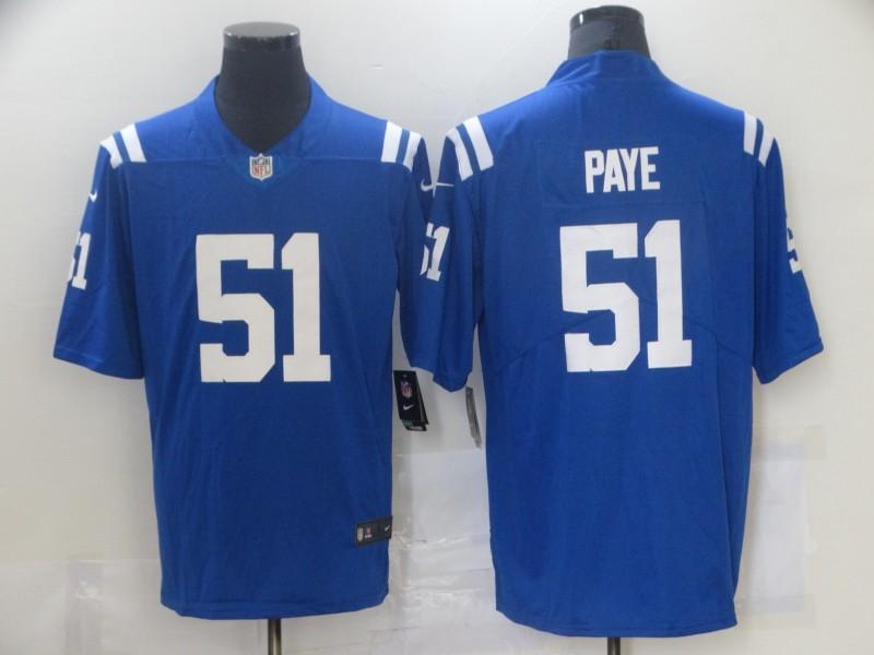 Nike Colts 51 Kwity Paye Royal 2021 NFL Draft Vapor Untouchable Limited Jersey