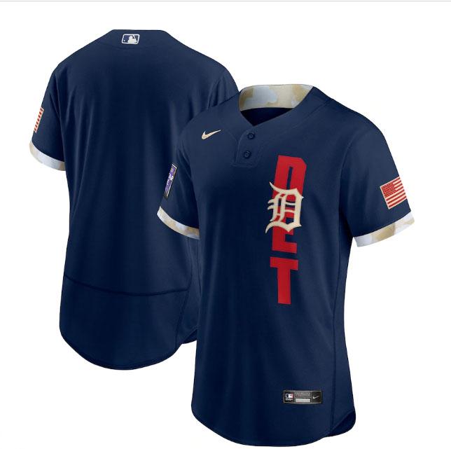Tigers Blank Navy Nike 2021 MLB All-Star Flexbase Jersey