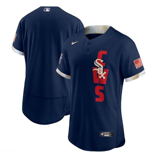 White Sox Blank Navy Nike 2021 MLB All-Star Flexbase Jersey