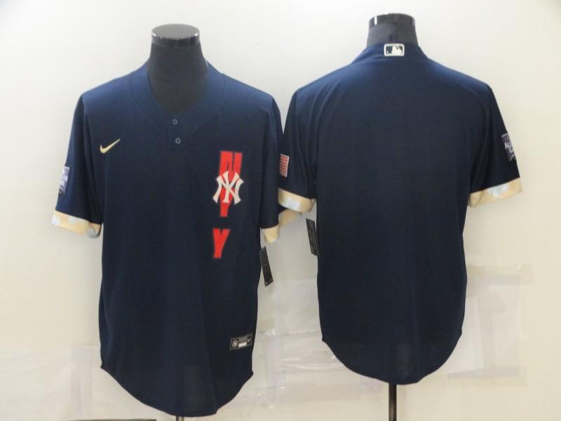 Yankees Blank Navy Nike 2021 MLB All-Star Cool Base Jersey