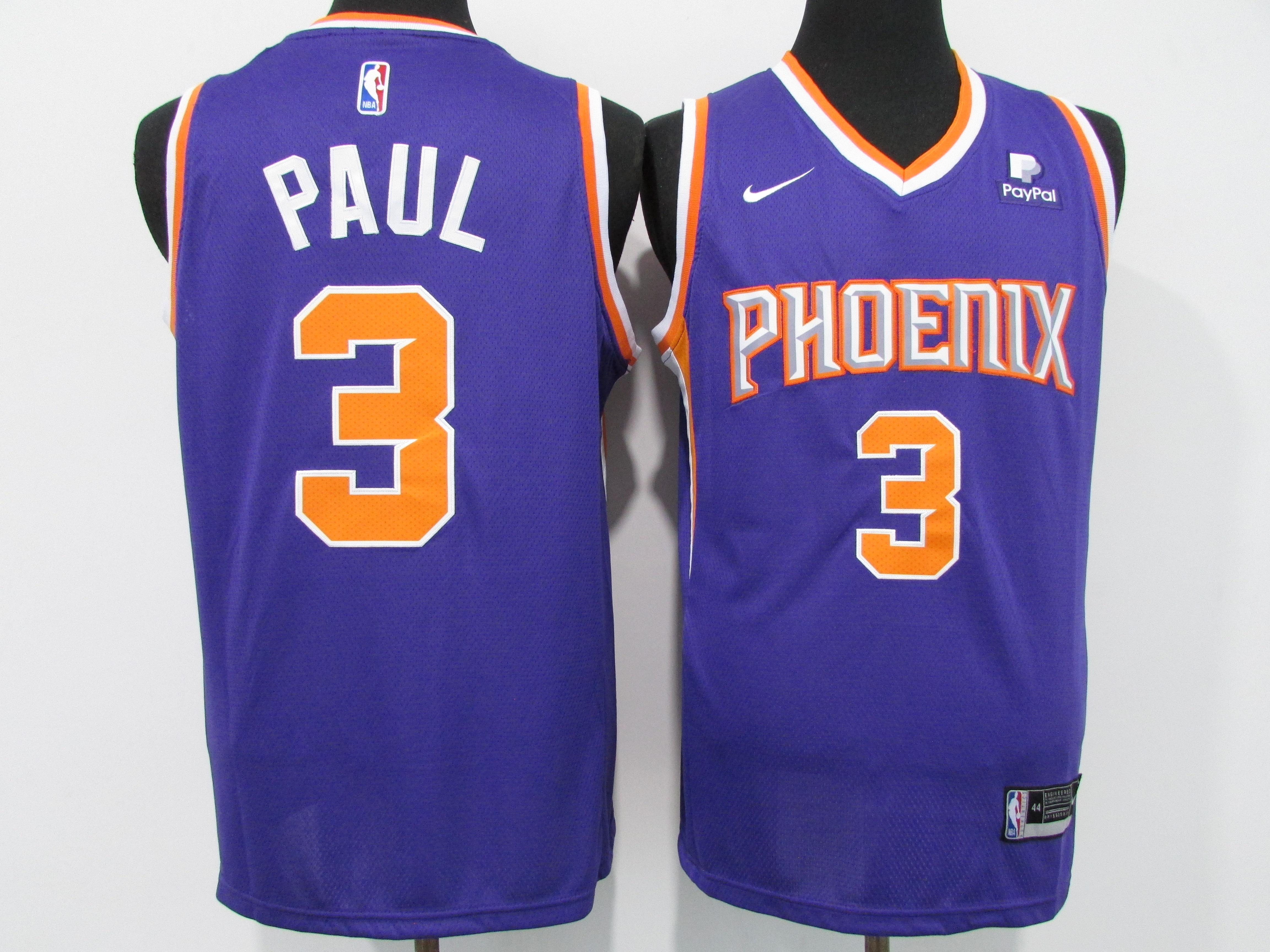 Suns 3 Chris Paul Purple Nike 2020-21 City Edition Swingman Jersey