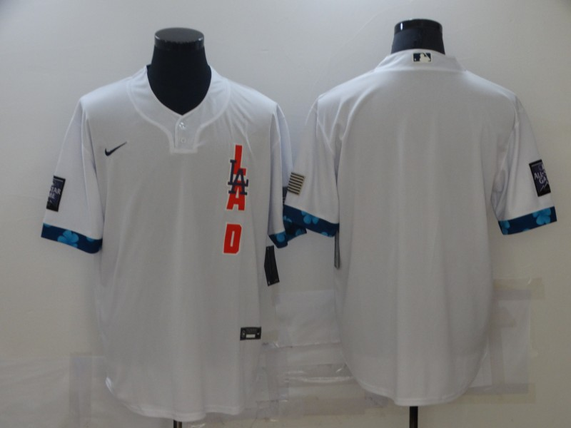 Dodgers Blank White Nike 2021 MLB All-Star Cool Base Jersey
