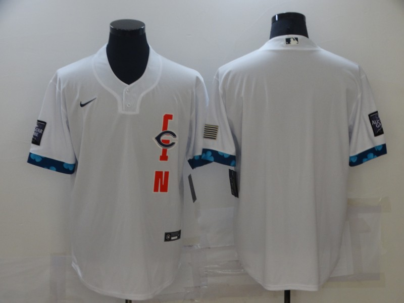Reds Blank White Nike 2021 MLB All-Star Cool Base Jersey