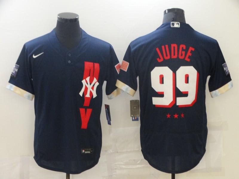 Yankees 99 Aaron Judge Navy Nike 2021 MLB All-Star Flexbase Jersey