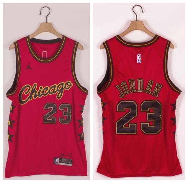 Bulls 23 Michael Jordan Red Commemorative Edition Jordan Brand Swingman Jersey