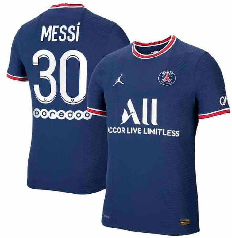 2021-22 Paris Saint-Germain 30 LIONEL MESSI Home Soccer Jersey