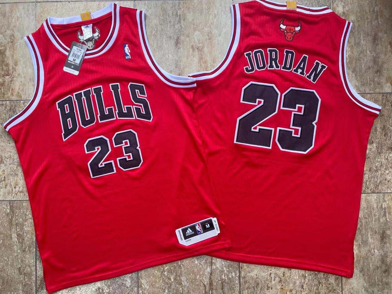 Bulls 23 Michael Jordan Red Adidas Swingman Jersey