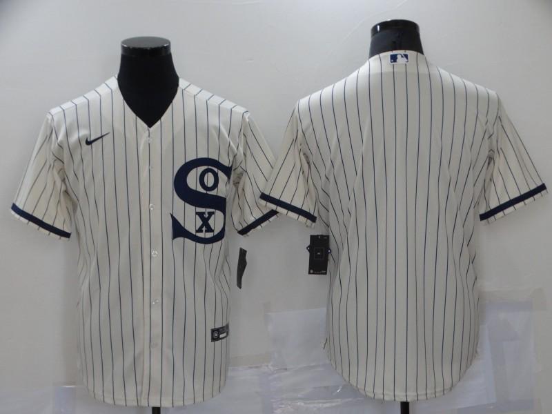 White Sox Blank Cream Nike 2021 Field Of Dreams Cool Base Jersey