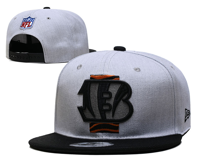 Bengals Team Logo Gray Black Adjustable Hat YD