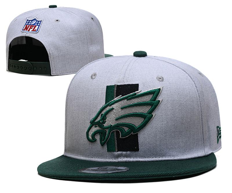 Eagles Team Logo Gray Green Adjustable Hat YD