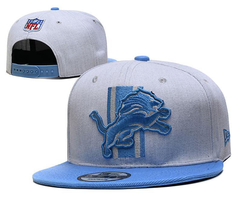 Lions Team Logo Gray Blue Adjustable Hat YD