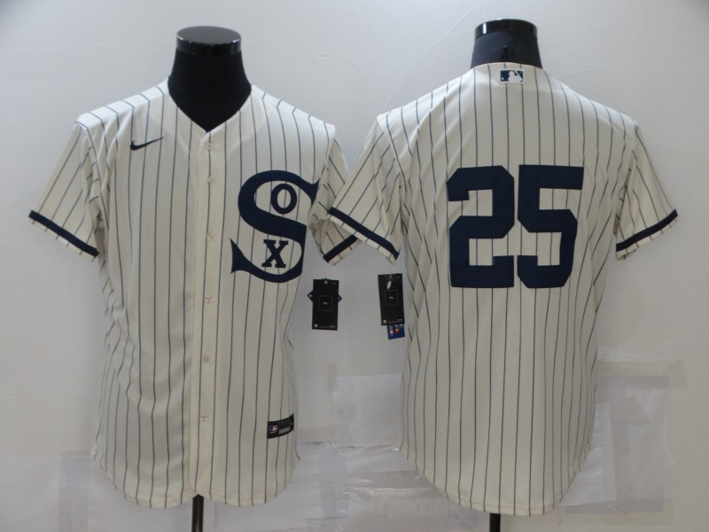 White Sox 25 Andrew Vaughn Cream Nike 2021 Field Of Dreams Player Fexbase Jersey