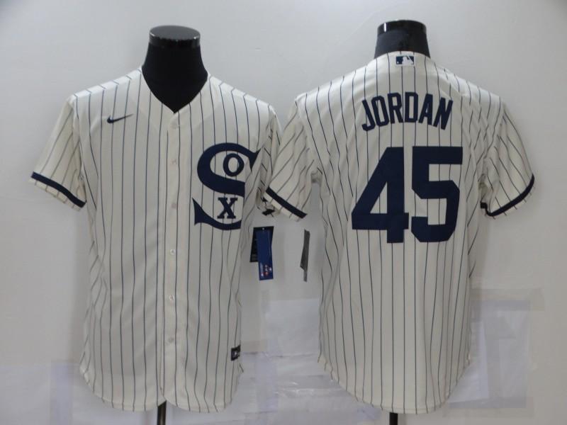 White Sox 45 Jordan Cream Nike 2021 Field Of Dreams Flexbase Jerseys