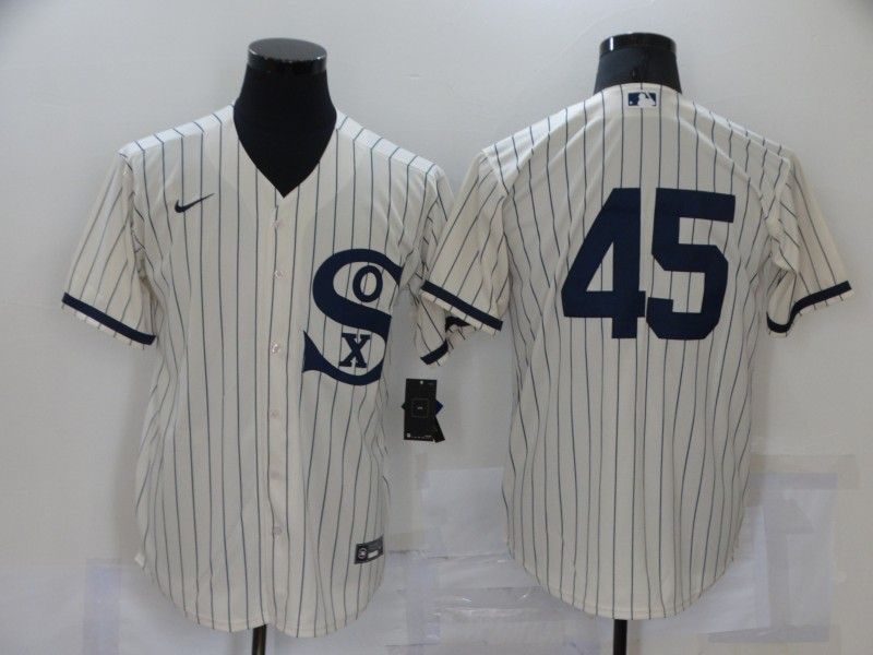 White Sox 45 Jordan Cream Nike 2021 Field Of Dreams Player Cool Base Jersey