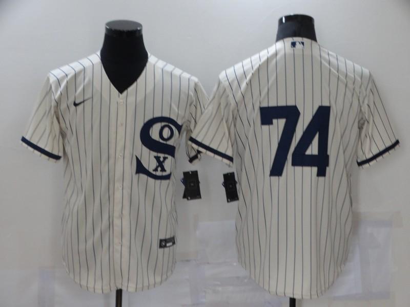 White Sox 74 Eloy Jimenez Cream Nike 2021 Field Of Dreams Player Cool Base Jersey