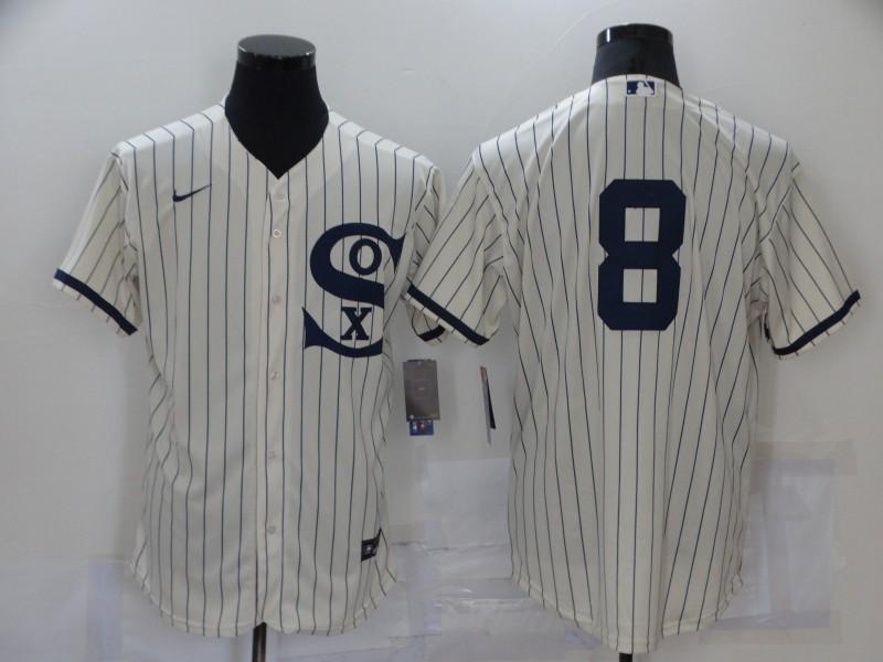 White Sox 8 Bo Jackson Cream Nike 2021 Field Of Dreams Flexbase Jersey