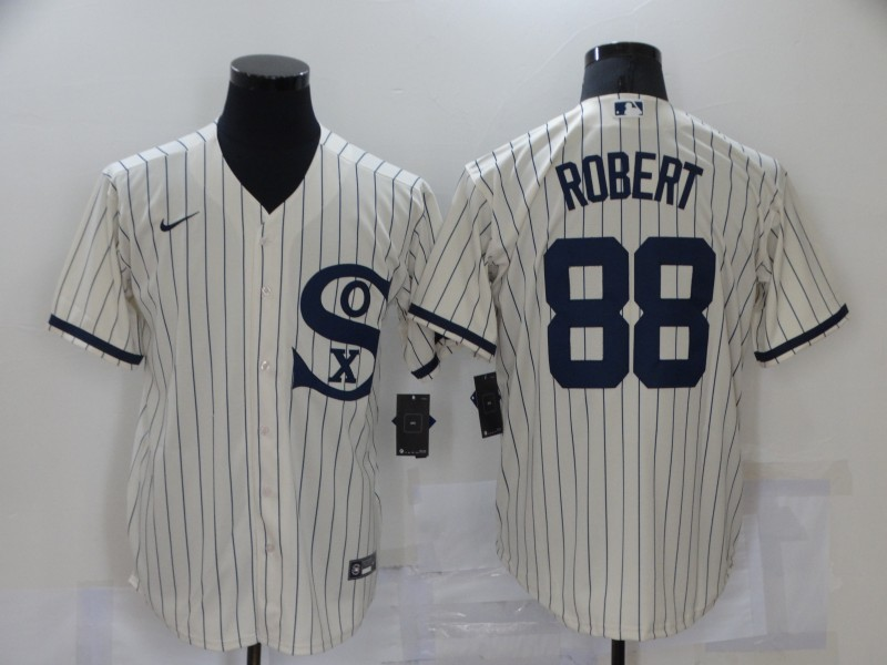 White Sox 88 Luis Robert Cream Nike 2021 Field Of Dreams Cool Base Jersey