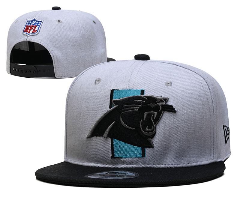 Panthers Team Logo Gray Black Adjustable Hat YD