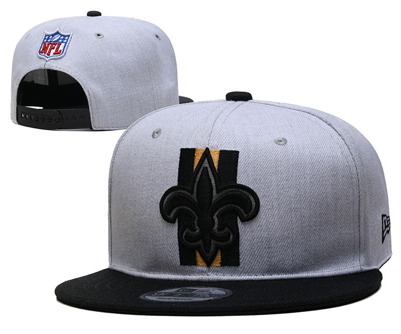 Saints Team Logo Gray Adjustable Hat YD