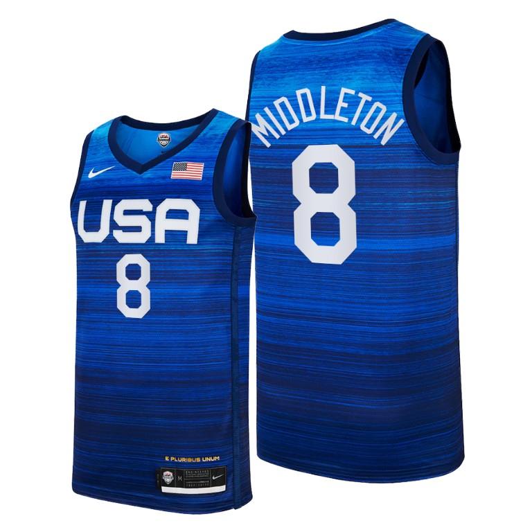 Team USA 8 Middleton Navy 2021 Olympics Basketball Swingman Jersey