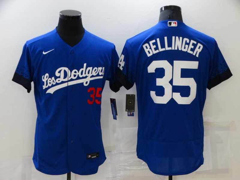 Dodgers 35 Cody Bellinger Royal 2021 City Connect Flexbase Jersey