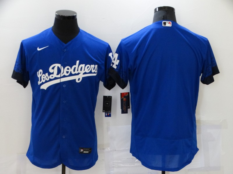 Dodgers Blank Royal 2021 City Connect Flexbase Jersey