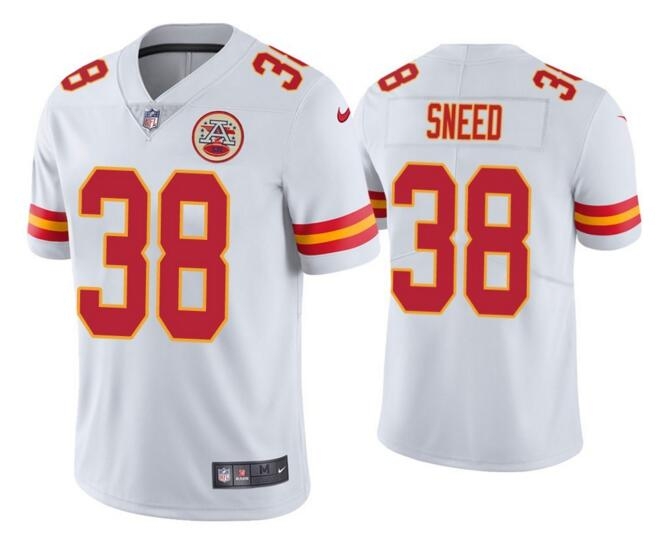 Nike Chiefs 38 L'Jarius Sneed White Vapor Untouchable Limited Jersey