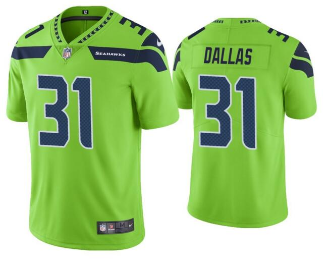 Nike Seahawks 31 Deejay Dallas Green Color Rush Limited Jersey